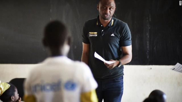 Vieira moved to France as an eight-year-old with his family, who were seeking a better way of life. He often returns to the country of his birth to promote new initiatives that are helping the development of the African nation.