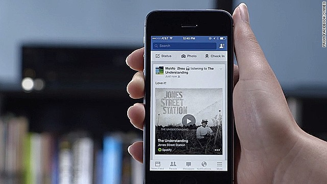 Facebook has added an audio-recognition feature that makes it easier to share updates about music and TV shows.