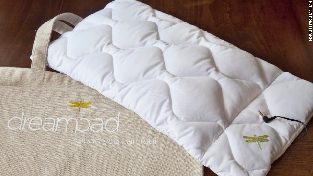 <strong><a href='http://dreampadsleep.com/' target='_blank'>Dreampad</a></strong><strong> </strong>turns your pillow into a speaker that only you can hear. Now you can lull yourself to sleep with sweet music transmitted through the fluff.