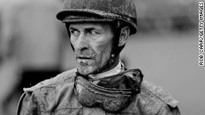 Jockey Gary Stevens looks on after a race prior to the 139th running of the Kentucky Derby at Churchill Downs on May 4, 2013 in Louisville, Kentucky. (Photo by Rob Carr/Getty Images)