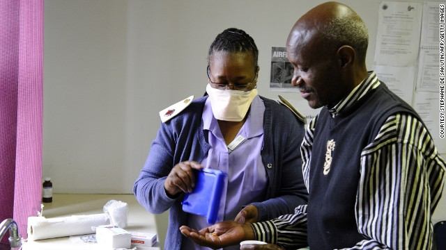 More than 500,000 South Africans contract TB each year, including thousands of cases of extensively drug-resistant TB. Pictured, a TB patient in Alexandra township, near Johannesburg.