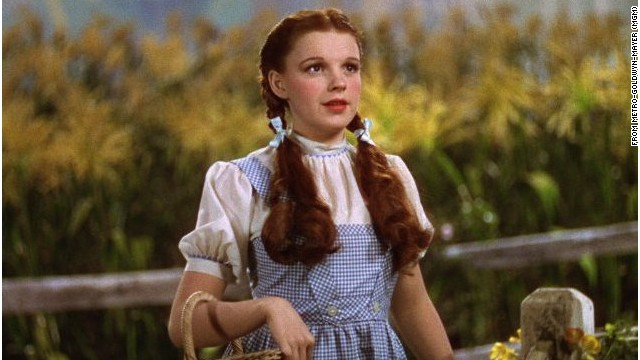 "Judy Garland as Dorothy Gale in ""The Wizard of Oz,"" which has never actually won the Palme d'Or despite its iconic status."