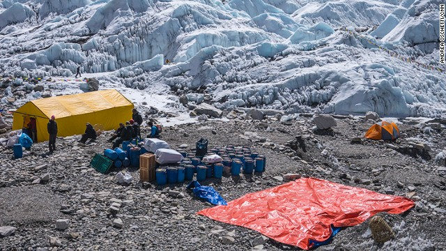 Many expeditions left Everest to climb other mountains in the region, before heading home.