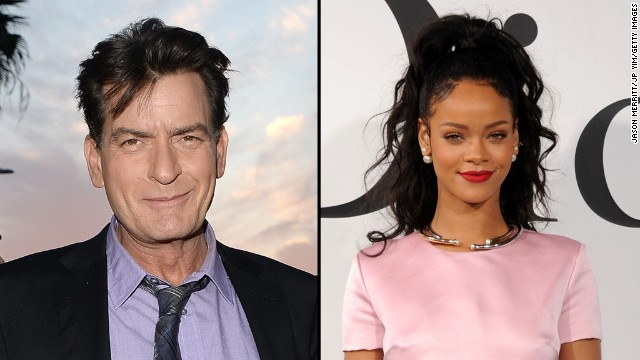 "Charlie Sheen is also unhappy with Rihanna. Sheen tweeted that the singer declined to meet him and his gal pal when they all landed at the same restaurant in May. The actor went on <a href='http://www.twitlonger.com/show/nchip4' target='_blank'>a bit of a Twitter rant</a> saying, ""it was a pleasure NOT meeting you."" We think Rihanna might have responded <a href='https://twitter.com/rihanna/status/469535330014490624' target='_blank'>when she tweeted</a>, ""If that old queen don't get ha diapers out of a bunch..."""