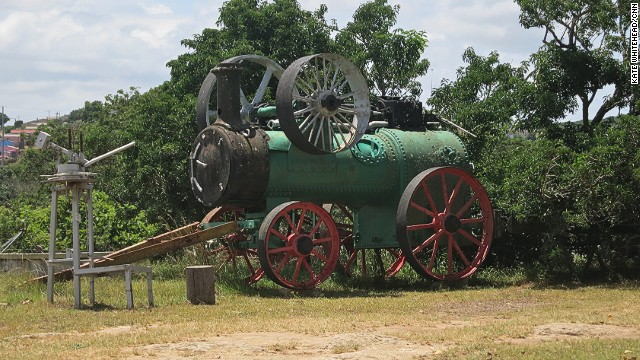 Exhibits at the Bathurst Agricultural Museum show what life was like for early settlers. Displays include an ostrich incubator and a steam engine.