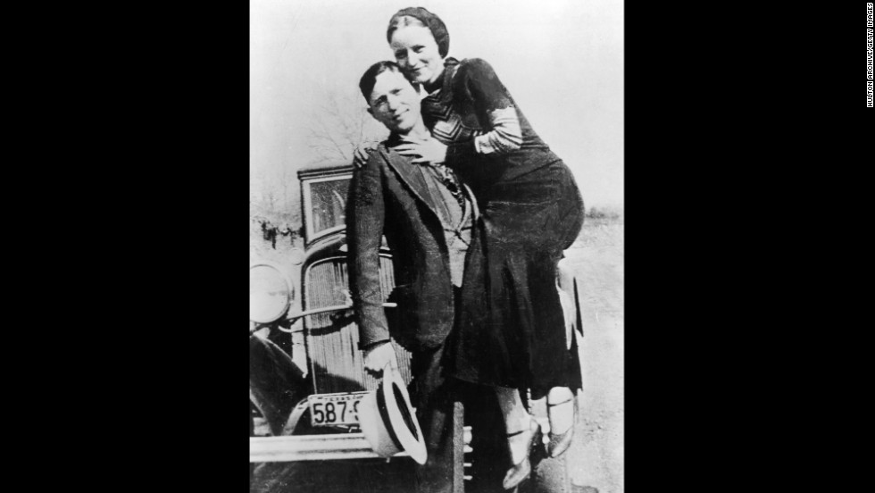 Clyde Barrow and Bonnie Parker pose for the camera. The criminal lovers' 21-month crime spree ended in a hail of bullets 80 years ago, on May 23, 1934.
