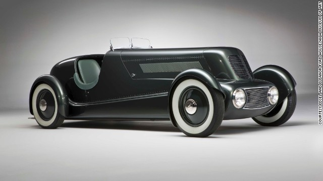 "This Edsel Ford Model 40 Special Speedster debuted in 1934. Designed by Henry Ford's son Edsel Ford and Eugene T. ""Bob"" Gregorie, it features a ""shapely alligator-style hood with louvered side panels,"" according to the High Museum."