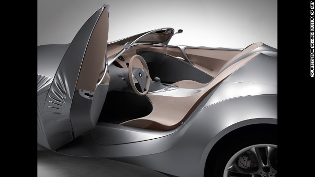 "This BMW GINA -- designed by Christopher Bangle features an exterior made from ""flexible tensile fabric stretched over a moveable body frame of aluminum and flexible carbon fiber,"" the museum said. ""The fabric comprised two layers: an under layer of wire mesh and an outer layer of polyurethane-coated Lycra that was resistant to water, heat, and cold."""
