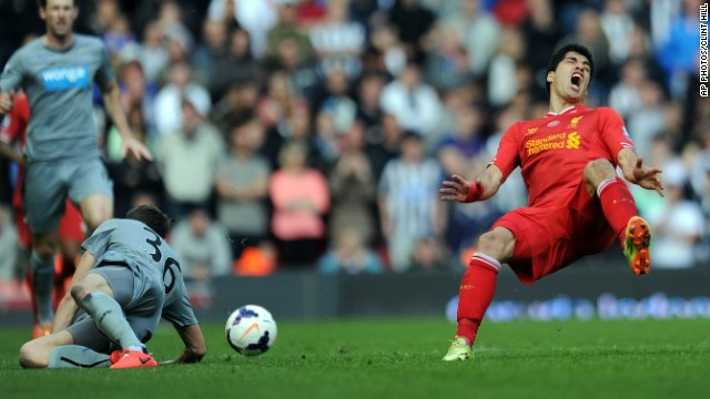 Liverpool striker Luis Suarez suffered a knee injury during his side's final-day victory over Newcastle. The Uruguay forward, who has had surgery in his homeland, is facing a race against time to be fit for the World Cup.