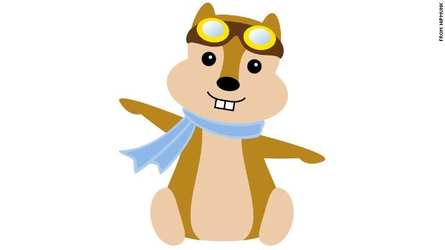 Travel site Hipmunk launched in 2010 with this cute flying chipmunk. Or squirrel. Or whatever it is. Note the scarf and aviator goggles.