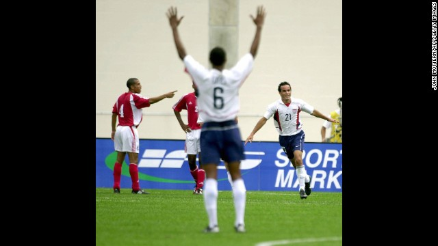 In a 2003 CONCACAF Gold Cup quarterfinal match against a rather weak Cuba team, Donovan put on one of the most impressive performances of his career, burying a record-tying four goals in the United States' 5-0 win.