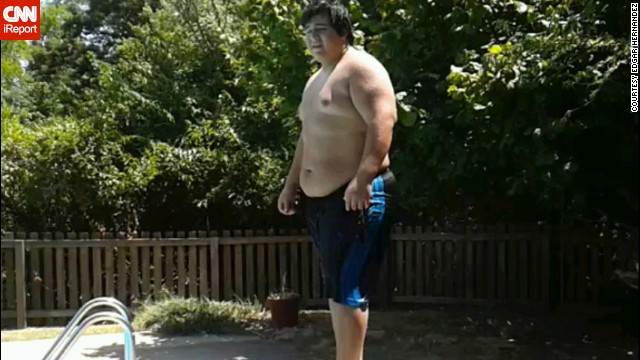 "Looking at this photo from summer 2012, <a href='http://ireport.cnn.com/docs/DOC-1129278'>Edgar Hernandez</a> thinks, ""How could I have let myself get that big? How could I have let myself go to the point I stopped caring about my body?"""