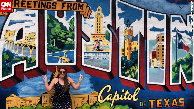 "<a href='http://ireport.cnn.com/docs/DOC-1131781'>Taylor Harkins</a> says the key to visiting a lot of states is to find time to take short trips and make the most of them. ""You spend so much time wasting time,"" she says. ""When you think about that hour you spend watching TV, you could have taken a trip somewhere."""