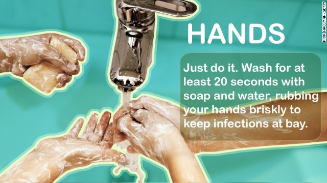 The single easiest way to stay healthy is to wash your hands. It's that simple. Anti-bacterial products work in a pinch, but the good old-fashioned stuff works best. Source: CDC