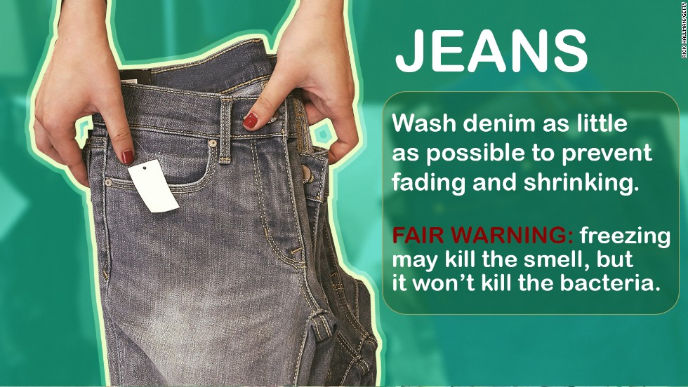 Levi's <a href='http://www.cnn.com/2014/05/22/living/dont-wash-jeans-levis-ceo/'>CEO Chip Bergh</a> said this week that he doesn't recommend washing jeans. Like, ever. Here are a few other things you can get away with not washing regularly, and some you should never skip.