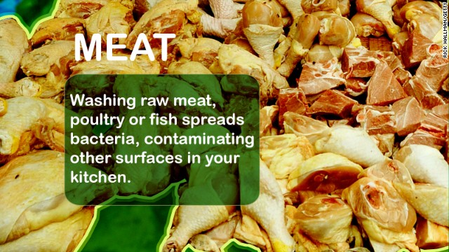 Bacteria that lives in meat, poultry and fish can mess with your GI tract. Food-borne illnesses include Salmonella, Campylobacter jejuni, E. coli, and Listeria monocytogenes Source: USDA, NIH