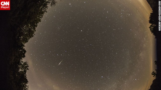 "<a href='http://ireport.cnn.com/docs/DOC-1136494'>Jean-Francois Gout</a> had only one word to describe the Camelopardalids meteor shower: ""Disappointing!"" He said he did manage to photograph a few meteors from Lake Monroe in Indiana."