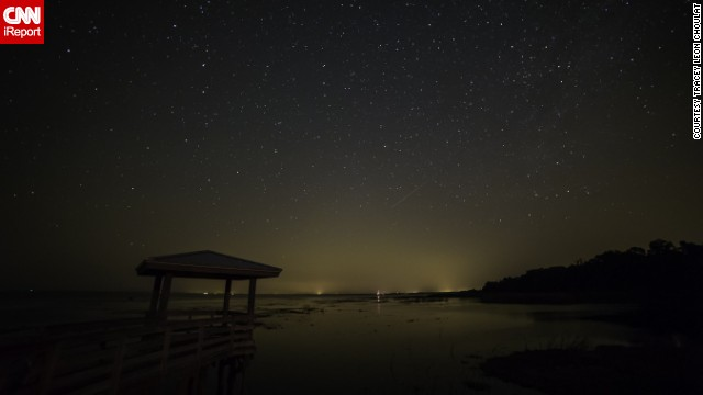"<a href='http://ireport.cnn.com/docs/DOC-1136466'>Tracey Choulat</a> stood outside Pierson, Florida, watching for the Camelopardalids meteor shower. After waiting for three hours, he jokingly renamed it a ""meteor sprinkle."""