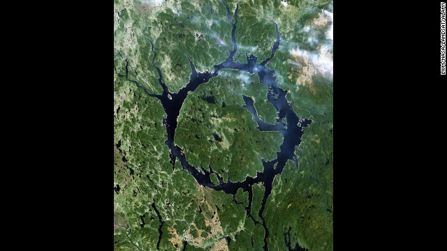 While many lakes are round, Canada's Lake Manicouagan is the only known lake that has been cast into the form of a ring.