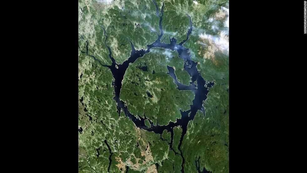 Lago Manicouagan, Canadá