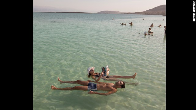 One part in three of the Dead Sea is salt, which means you can float on its surface.