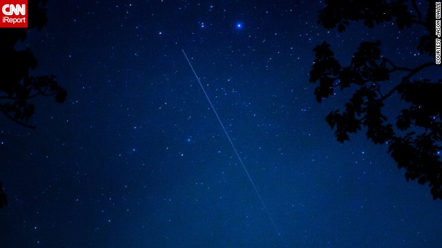 "<a href='http://ireport.cnn.com/docs/DOC-1136589'>Jason Walle </a>was photographing the meteor shower in Cashiers, North Carolina, and says it was a bust in terms of the number of sightings. ""Despite that, it was pretty amazing to see it since it was the first shower for this comet,"" he said."