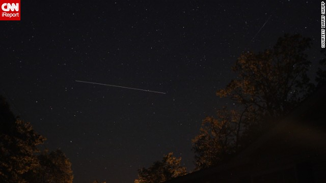Astrophotographer <a href='http://ireport.cnn.com/docs/DOC-1136672'>Barry Shupp</a> was hoping to get photos of the meteor shower from Hustontown, Pennsylvania. Instead, he had a chance to photograph the International Space Station while also catching a meteor passing by overhead.