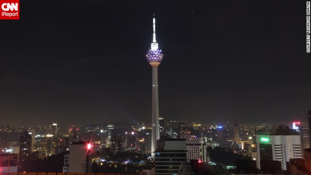 Revinson Martin was in Kuala Lumpur, Malaysia, where he photographed the <a href='http://ireport.cnn.com/docs/DOC-1136478'>Kuala Lumpur Tower</a>. Also known as the KL Tower, it was built in 1995 and is used for communication purposes. The tower also features a large antenna on top.