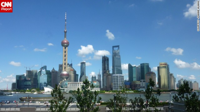 Joanne Huang was visiting Shanghai, China, when she photographed the <a href='http://ireport.cnn.com/docs/DOC-1129274'>Oriental Pearl Tower</a>. The TV tower is an iconic building located in the Bund district, near the Huangpu River.