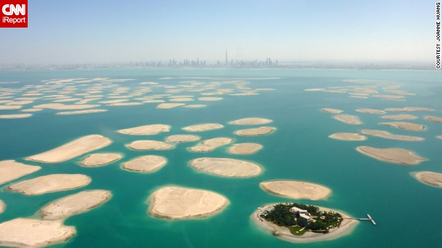 Not really a building, but still man-made, <a href='http://ireport.cnn.com/docs/DOC-1129273'>The World</a> is an artificial archipelago in Dubai, United Arab Emirates. The <a href='http://www.privateislandsonline.com/islands/the-world-islands-dubai' target='_blank'>300 islands</a> form a world map that can be seen from an aerial view.