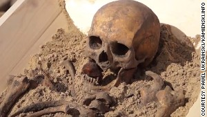 'Vampire' burial in Poland keeps myths alive