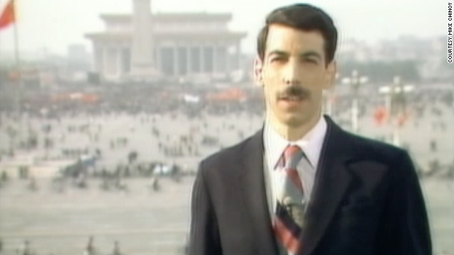 Mike Chinoy, former CNN Beijing Bureau Chief, reported live from Tiananmen Square in 1989.