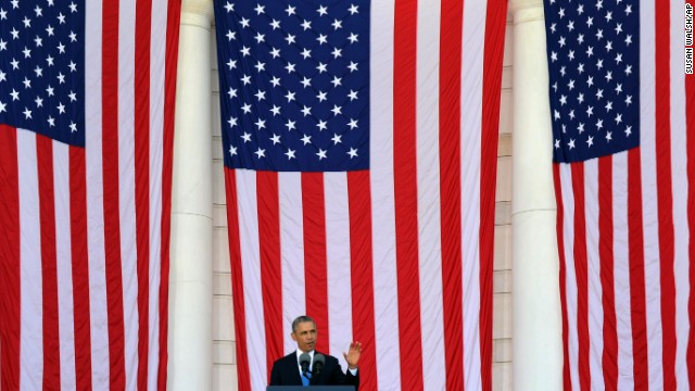 President Barack Obama speaks at Arlington National Cemetery in Arlington, Virginia, on May 26.
