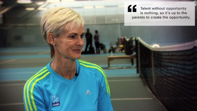 Judy Murray is the mother of two Wimbledon winners -- her older son Jamie won the mixed doubles competition in 2007, while Andy, her younger, won the men's championship in 2013.