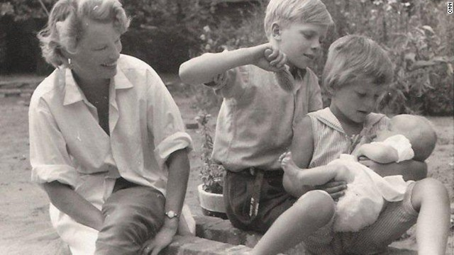 Here, Eve Branson is pictured with her children Richard, Vanessa and Lindy in a photograph from 1959.