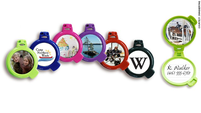 Apart from storing personal info, colorful SwaggerTags allow you to personalize luggage with a picture.