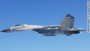 An image of a Chinese fighter jet released by Japan\'s Defense Ministry after the incident.