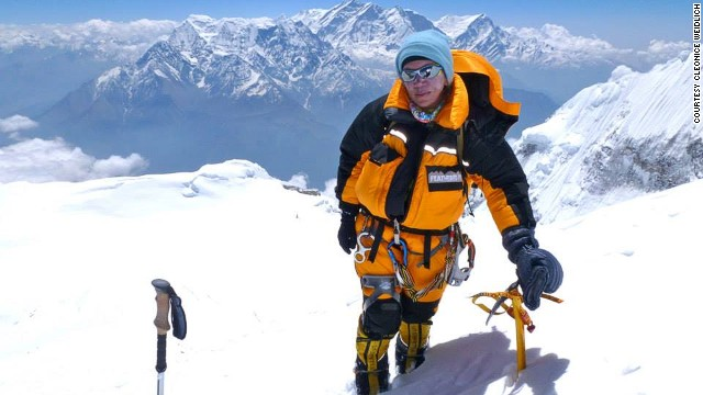 "Cleonice Pacheco Weidlich, 50, was one of two climbers who decided not to leave Everest after a fatal avalanche in April. Weidlich eventually abandoned her summit attempt however, having used a helicopter to bypass the treacherous Khumbu Icefall, saying ""I would only have climbed half of it."""