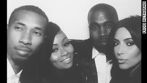tyga, black chyna, Kanye west and Kim Kardashian http://instagram.com/p/oZklhNxvlH/