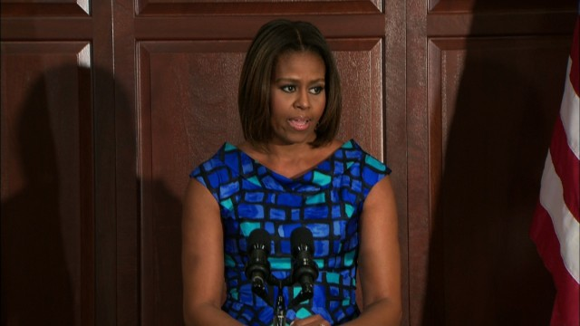 At fundraiser, first lady remembers when 'we took office'