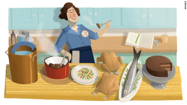 August 15, 2012: American chef Julia Child's 100th birthday