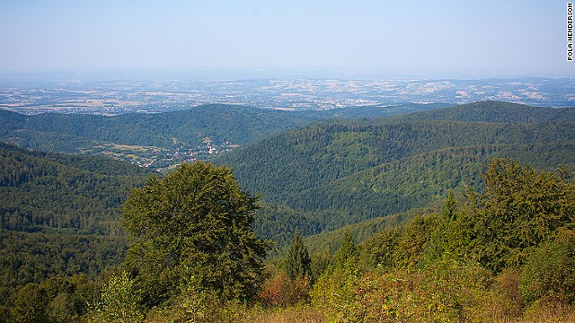 Born Karol Wojtyla in 1920, the future pope lived in Wadowice, about 50 kilometers from Krakow, until he was 18. As a young man, he enjoyed hiking in the nearby Beskidy Mountains. Now there's a peak named after him.