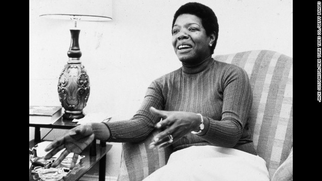 Angelou speaks during an interview at her home in 1978.