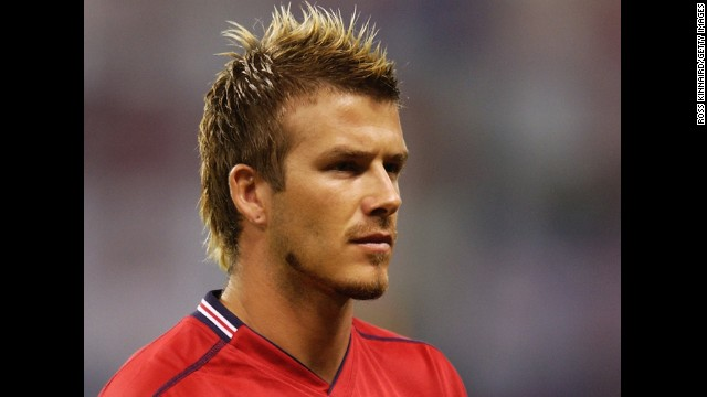 Modern man, style icon and part-time England football captain, David Beckham was at the center of a British media storm when he opted for a mohawk ahead of the 2002 tournament in Japan and South Korea. The midifelder who made it OK for men to wear sarongs is also the most capped outfield player in his country's history.
