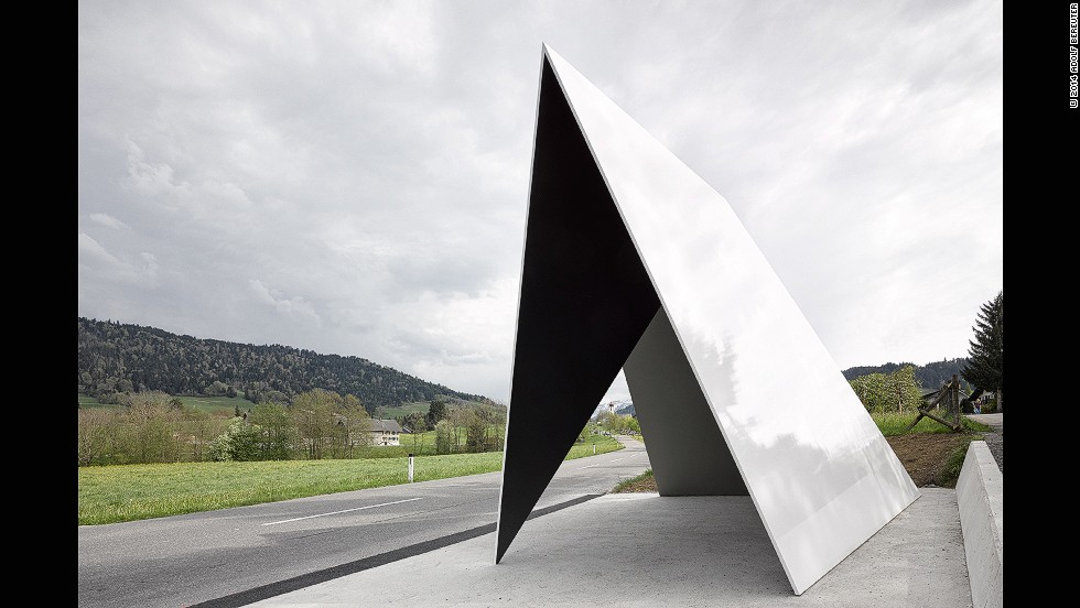 Waiting at a bus stop is widely held to be one of life's most mundane experiences. But that's no longer so if you happen to be a resident in the small village of Krumbach, western Austria. <!-- --> </br><!-- --> </br>There, the town's cultural association invited seven world-class architects, including Pritzker Prize winners Wang Shu and Lu Wenyu, to design shelters along the local bus route, offering nothing more than a week's free holiday in the region. <!-- --> </br><!-- --> </br>Remarkably, the architects accepted, and the construction was funded entirely through local community's donations, with no public money spent at all. The resulting seven architectural visions, such as this triangular creation by <a href='http://www.architectendvvt.com/' target='_blank'>Architecten De Vylder Vinck Taillieu</a>, turn the humble, hum-drum bus stop into avant-garde landmarks.<!-- --> </br><!-- --> </br>Interviews by <strong><a href='https://twitter.com/M_Veselinovic' target='_blank'>Milena Veselinovic</a></strong>