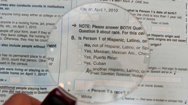 The 2010 official US Census form.