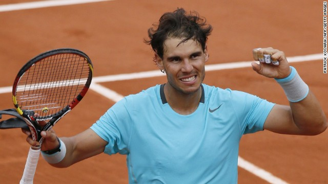 Rafael Nadal's straight sets win over Dominic Thiem was his 60th at the clay court grand slam.