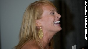 Stephanie Gallman toasts the bride.