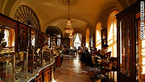 Budapest\'s Gerbeaud coffee house -- as dark and rich as the brews it\'s been serving since the days of communism.