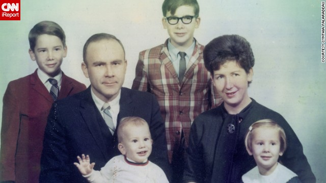 """<a href='http://ireport.cnn.com/docs/DOC-948132'>Cynthia Carr Falardeau</a>, far right, said some of her sweetest memories come from the 1960s, including this family photo shot in Dayton, Ohio, in 1969. She described it as a """"time of innocence."""""""